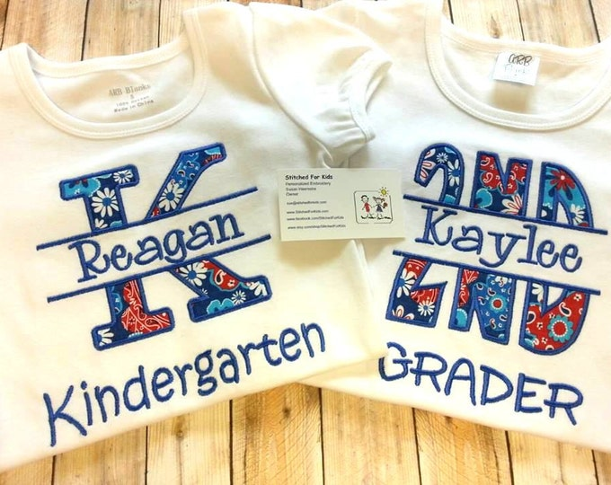 Personalized School Spirit Shirt, First day of school shirt, Back to school shirt, End of School Year Shirt, Last Day of School