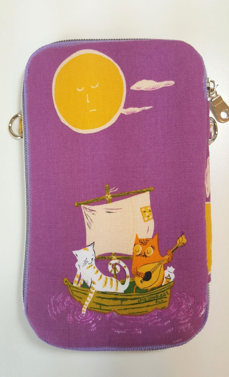 Owl and Pussycat Day Trip Cell Phone Wallet