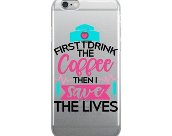 Nurse and coffee medical iPhone Case cell phone