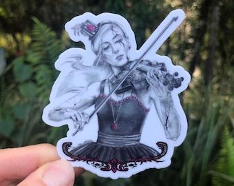 Pink Tourmaline Broken Doll Sticker / October Birthstone Art / Marionette /  Decal / Vinyl Die Cut Sticker /  Witchy / Hydroflask Laptop Car