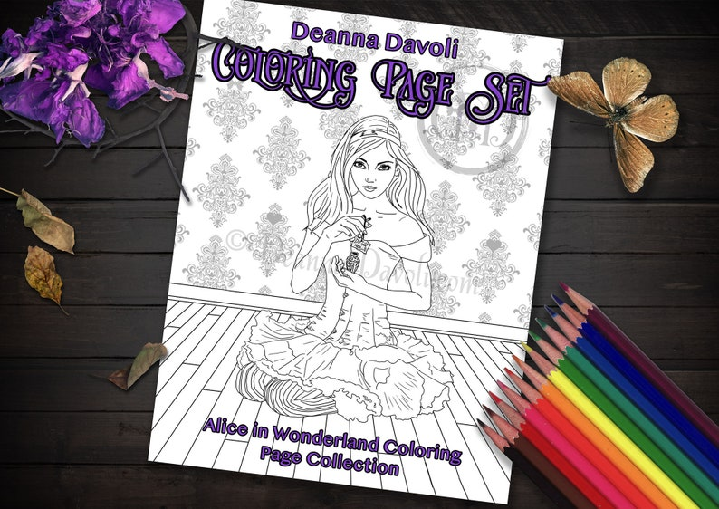 Alice In Wonderland Coloring Page Book / Adult Coloring Pages Etsy