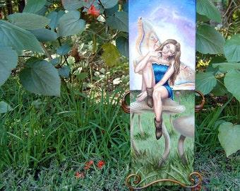 Fairy Painting ORIGINAL Painting Original Art Fairy Art Fantasy Art Mushroom Fairy