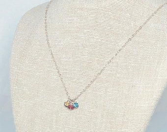 Mother's Necklace - Birthstone, Silver, Gold, Rose Gold - Choose Your Gemstones - Mother's Day Present, Gift for Grandmother, Gift for Mom