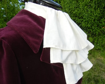Three layered Victorian inspired  white jabot