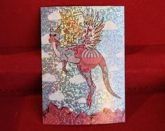 Fight or Flight: Hand Embellished Foil Art Print (Limited to 36)