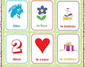 graphic about Printable French Flashcards titled Printable French Alphabet Flash Playing cards A-Z Etsy
