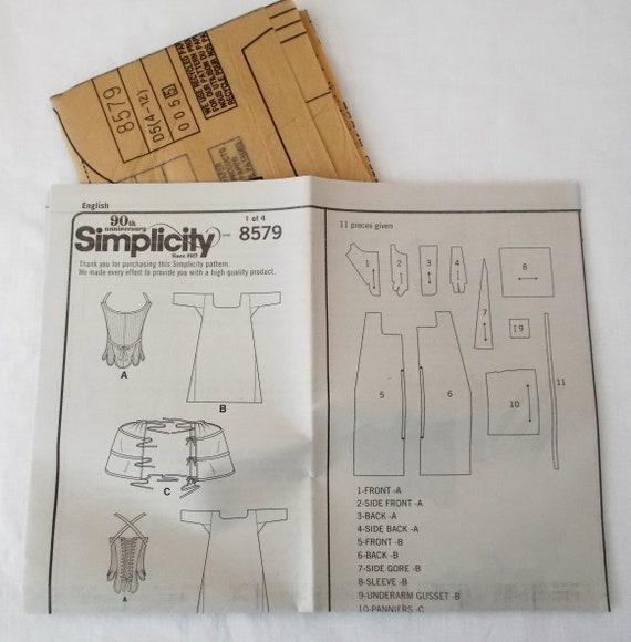 Einfachheit 8579 18. Jahrhundert Korsett Verschiebung | Etsy