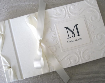 Monogram Guest Book Wedding Guest Book Alternative Signature Etsy