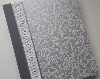 Wedding Photo Album, Personalized Album, 8x10, White & Silver Wedding, Silver Anniversary, Photo Album, wedding gift, Anniversary Gift
