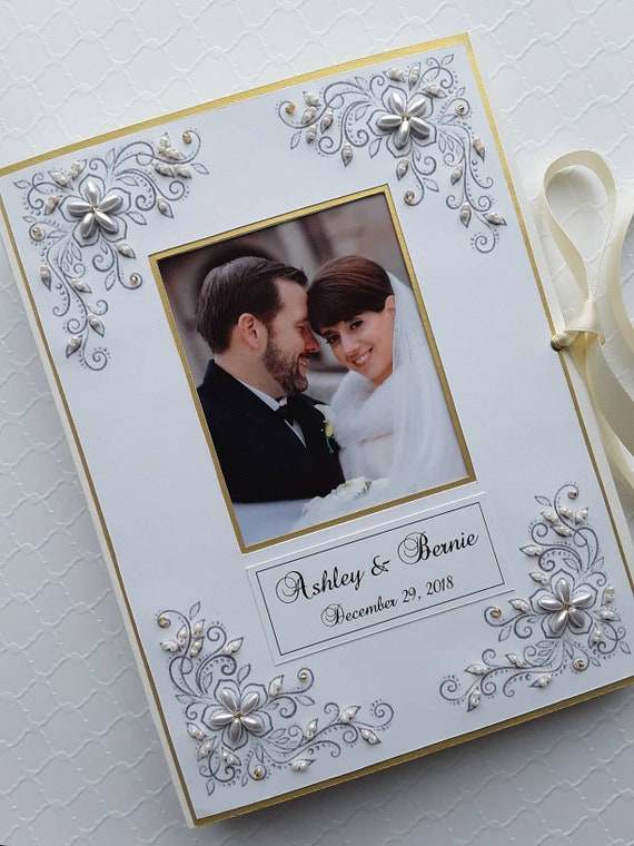 Personalized Gift for Mother/'s Day. Wedding photo album Personalized Vintage wedding book