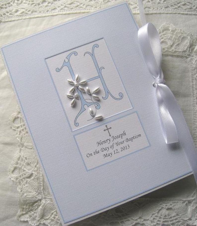 Baby Photo Album Personalized Beaded Monogram Baby Girl Gift image 0