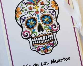Mexican Sugar Skull, Dia de los Muertos, Day of the dead, Calavera, Celebration of departed souls, religious gift, personalized album,