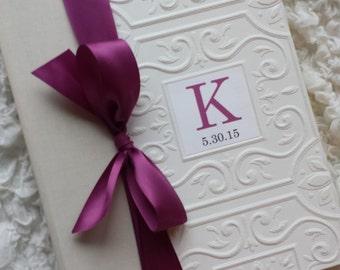 Wedding Photo Album, Photo Album, Monogram Album, Personalized Photo Album, Wedding Gift, Wedding Anniversary Photo Album, Monogram Gift