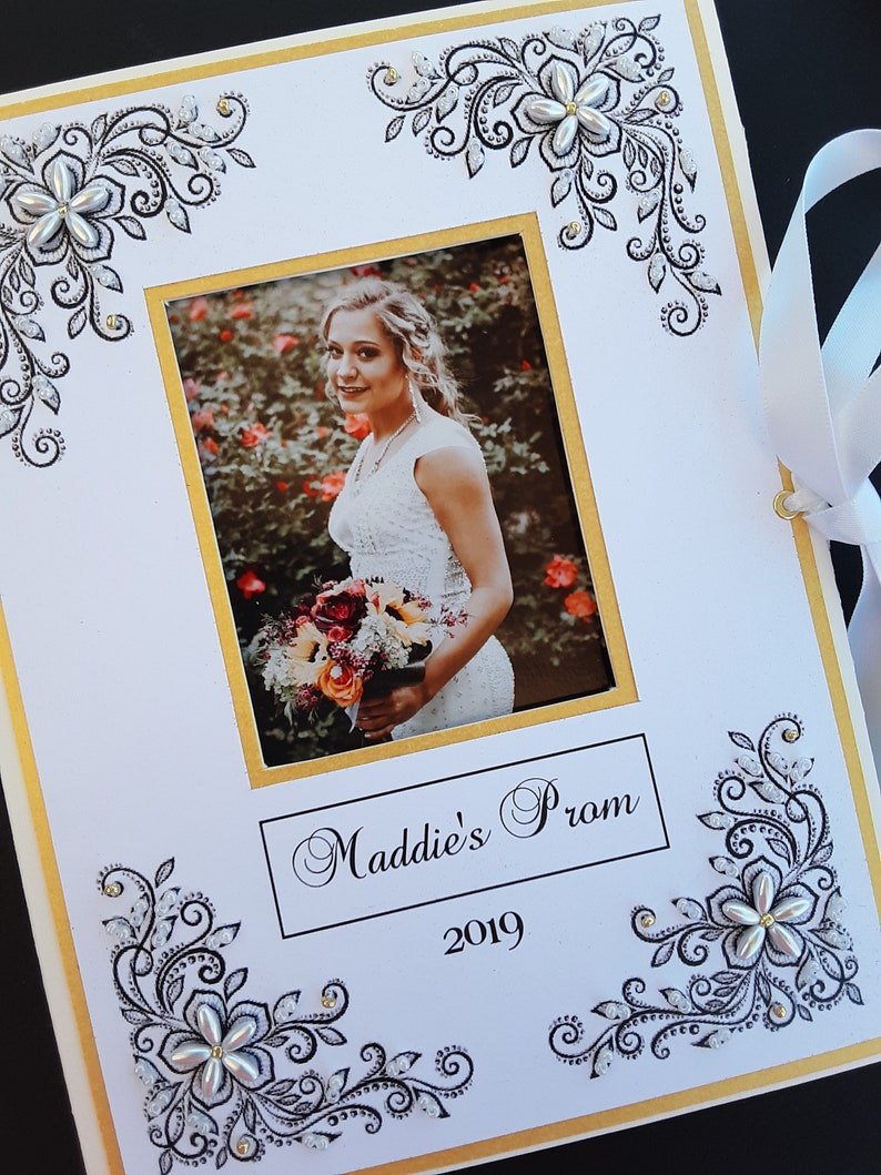 Personalized Prom Photo Album, School Memories, Prom 2019, Photo Album, 5x7, 4x6, Quinceanera, School Events, Dance, Homecoming, Brag Book