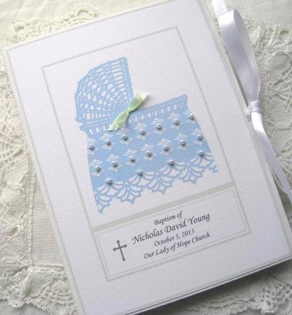 Boy Baptism Gift Baby Photo Album Baby Boy Gift Etsy
