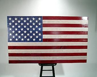 Wood American Flag.
