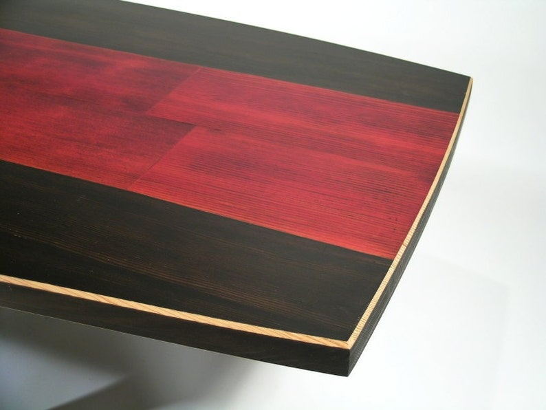 Surfboard Inspired Wood Table. image 0