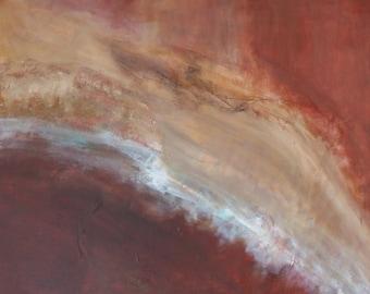 Abstract Art ORIGINAL on canvas, SEDIMENTS Mixed Media