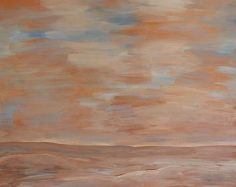 Landscape No. 2 Original Acrylic Painting On Gallery Wrapped Canvas