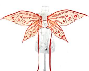Junebug Medium Organza Fairy Wings, Strapless Convertible, Fairytale, Fantasy, Cosplay, Halloween Costume, Photography Prop, Pixie, Dance