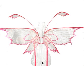 Nearea Medium Organza Fairy Wings, Strapless Convertible, Fairytale, Fantasy, Cosplay, Halloween Costume, Photography Prop, Pixie, Dancewear