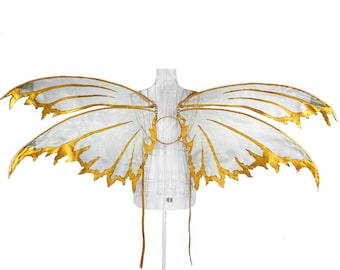 Arya Large Organza Fairy Wings, Strapless Convertible, Halloween Costume Cosplay, Steampunk, Photography Prop, Fairytale Pixie, Festival