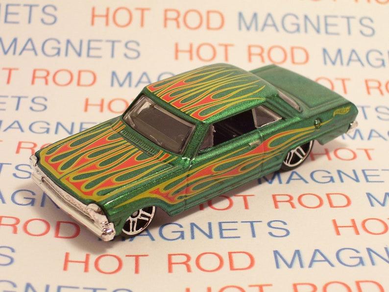 1962 Chevy Impala Convertible Auto  Refrigerator Tool Box Magnet  Man Cave