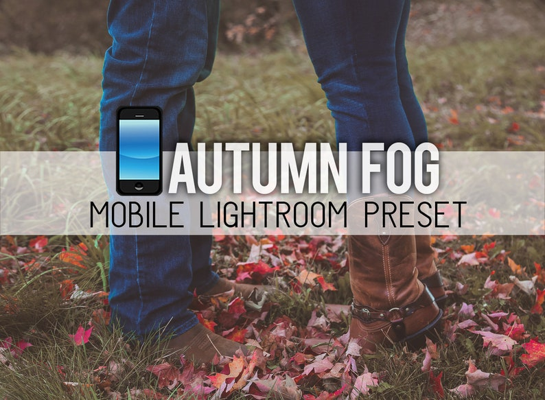 Autumn Fog MOBILE app ONLY Lightroom Preset LR Fall Matte Cider Filter  Sunset Golden Hour Leaves Foliage Editing Portrait Engagement Family