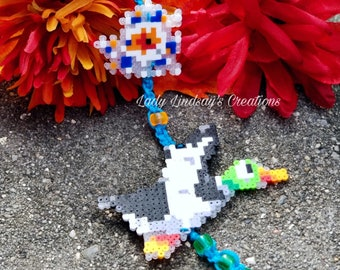 Missed shot NES Duck Hunt inspired Pixel sprite key chain