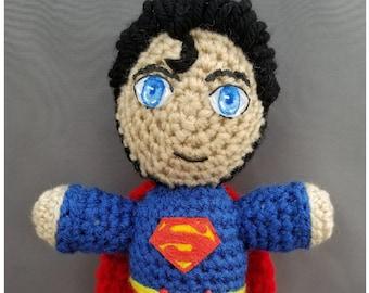 Superman superhero Amigurumi