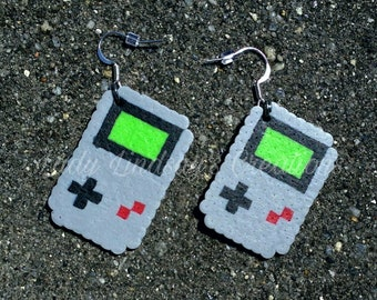 Classic Portable Gaming Console Pixel Earrings Retro Gamer