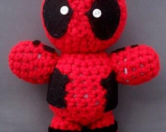 Deadpool Amigurumi Doll