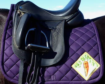 Purple Dressage Saddle Pad with Batik Medallions. The 24 Carrot Collection CD-71