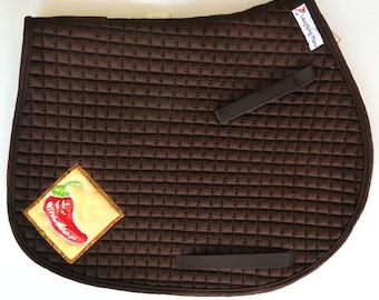 Chili Pepper Saddle Pad in Brown for AP Saddles HA-82