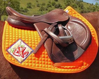 Saddle Pad AP for Jumping Saddles or Short Flap Dressage Saddles, Orange HA-83