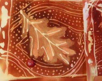 Leaf Medallion Series 2, Batik on Cotton Twill for Appique, Saddle Pad, Quilt, Wearable Art