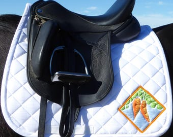 White Dressage Saddle Pad for English Saddles from The Carrot Collection CD 72
