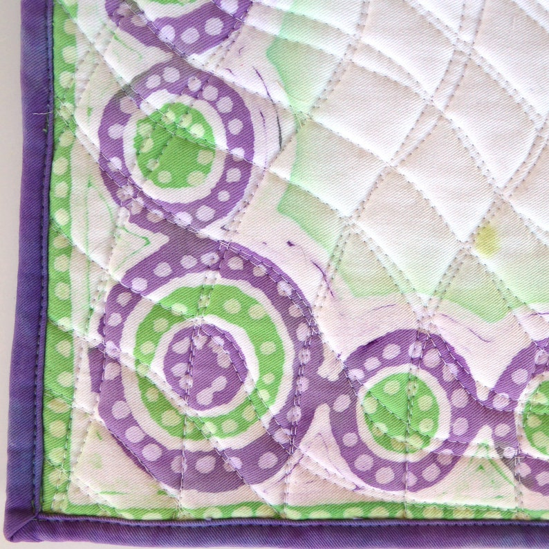 English Dressage Saddle Pad. Batik Denim with Cotton Fill image 0