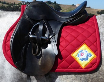 Saddle Pad for All Purpose Saddles in red from The Floral Collection FA-62