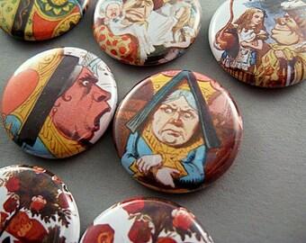 7 Fridge Magnets - Alice in Wonderland Royalty 1141