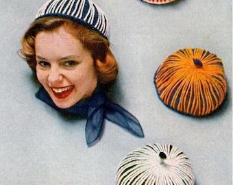 Vintage String Beanie  - Crochet Hat Pattern (SNH117)