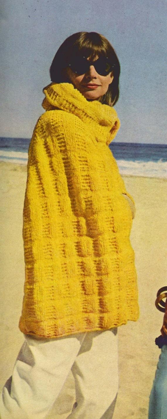 Knit Beach Cape