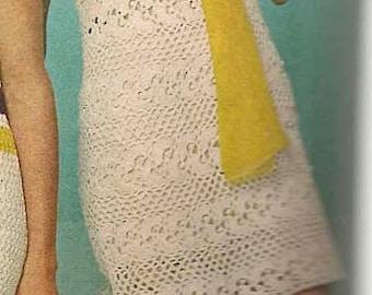 WHITE LACE Dress pattern - Left (MS70)