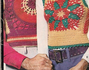 "RIB-TICKLERS - Vintage Women's Petal Motif  ""Shrink"" style vest pattern (on Right)"