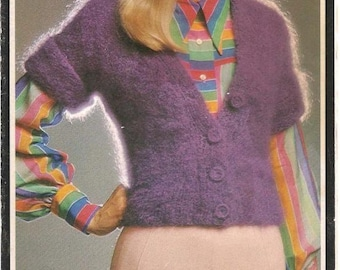 Vintage Short Sleeve Knit Blouse Pattern (BtWg) - PDF