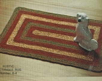 Crocheted Rug Pattern  R4  PDF - Fun for the Winter