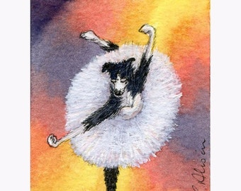 Border Collie ballerina dog 10x8 inches print - Whirl, ballerina, whirl