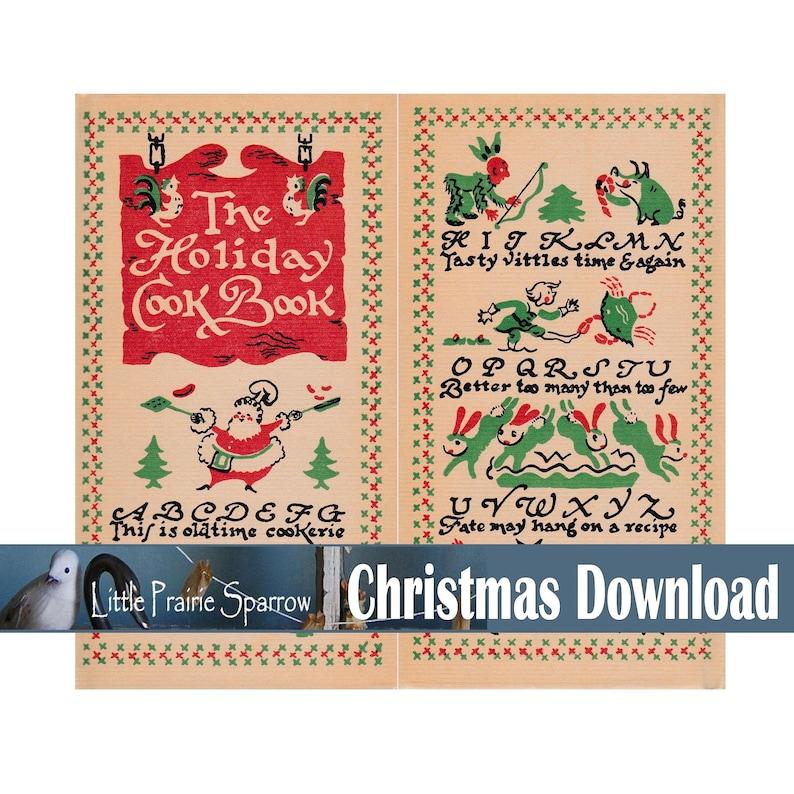 Vintage Christmas Images Digital Download Printable Ephemera image 0