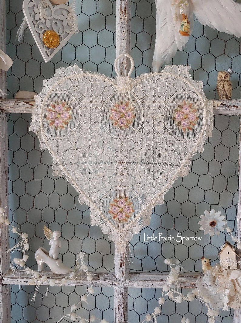Lace Wire Heart Wedding Prop Brides Chair Nursery Decor image 0
