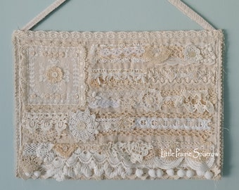 Flag Tapestry, 4th of July Decor, Neutral Farmhouse Hanging, American Flag Theme, Patriotic Home, Americana Accent, Shabby Chic Wedding Prop